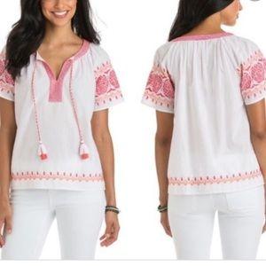 vineyard vines white blouse